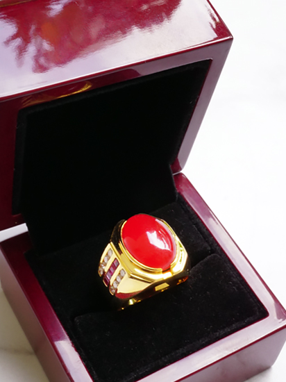 Red Jadeite Ring