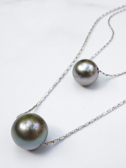 Double Pearl Necklace Web