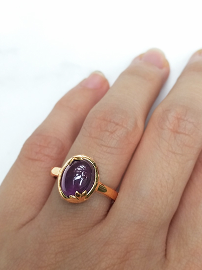 Amethyst Ring Worn
