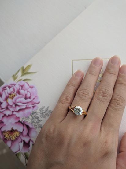 Moissanite Solitaire Ring