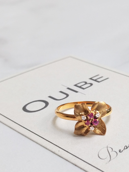 Pink Sapphires Flower Ring