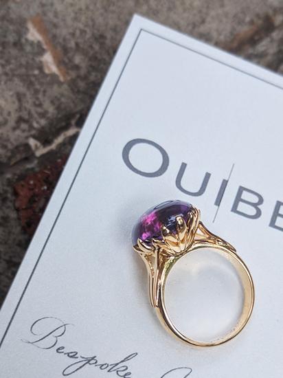 Amethyst Cabochon Ring